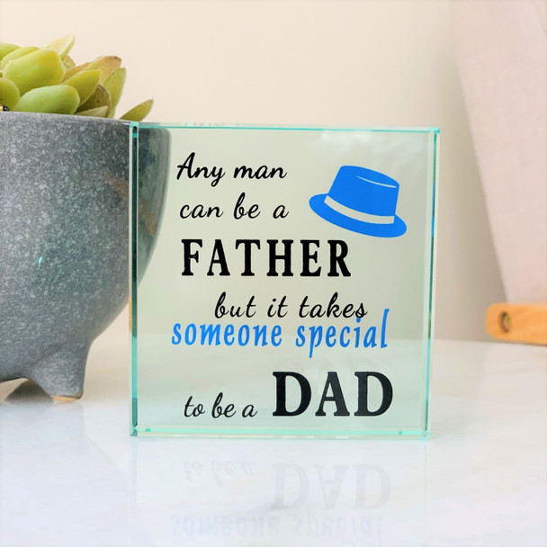 To Be a Dad Glass Frame