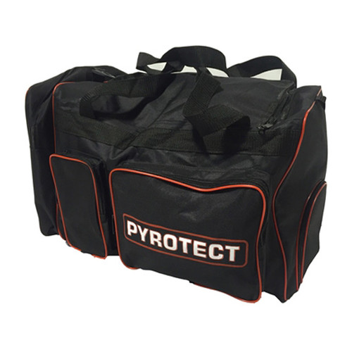 The  Highly-Developed™ equipment bag has 6 strategically designed and positioned for optimum capacity and can accommodate a full set of Pyrotect safety equipment and one full face helmet, along with a unique Hygenic-style concealed pocket to isolate odors from used innerwear & socks.  Bag Dimensions are: 21″L x 16″W x 13″H