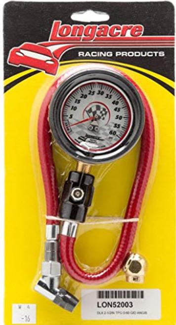 Longacre 52-52003 Tire Pressure Gauge, 2-1/2 Inch, 0-60 PSI