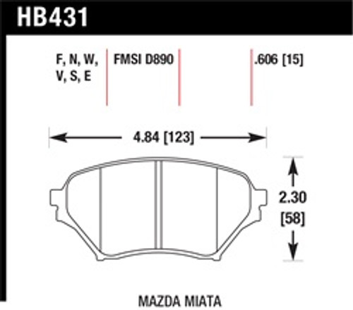 Front Pads - HB431E.606