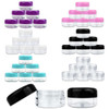 15G/15ML Plastic Clear Cosmetic Sample Jars (Round Top)