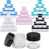 7G/7ML (0.25 oz) Plastic Clear Cosmetic Sample Jars (High Quality)