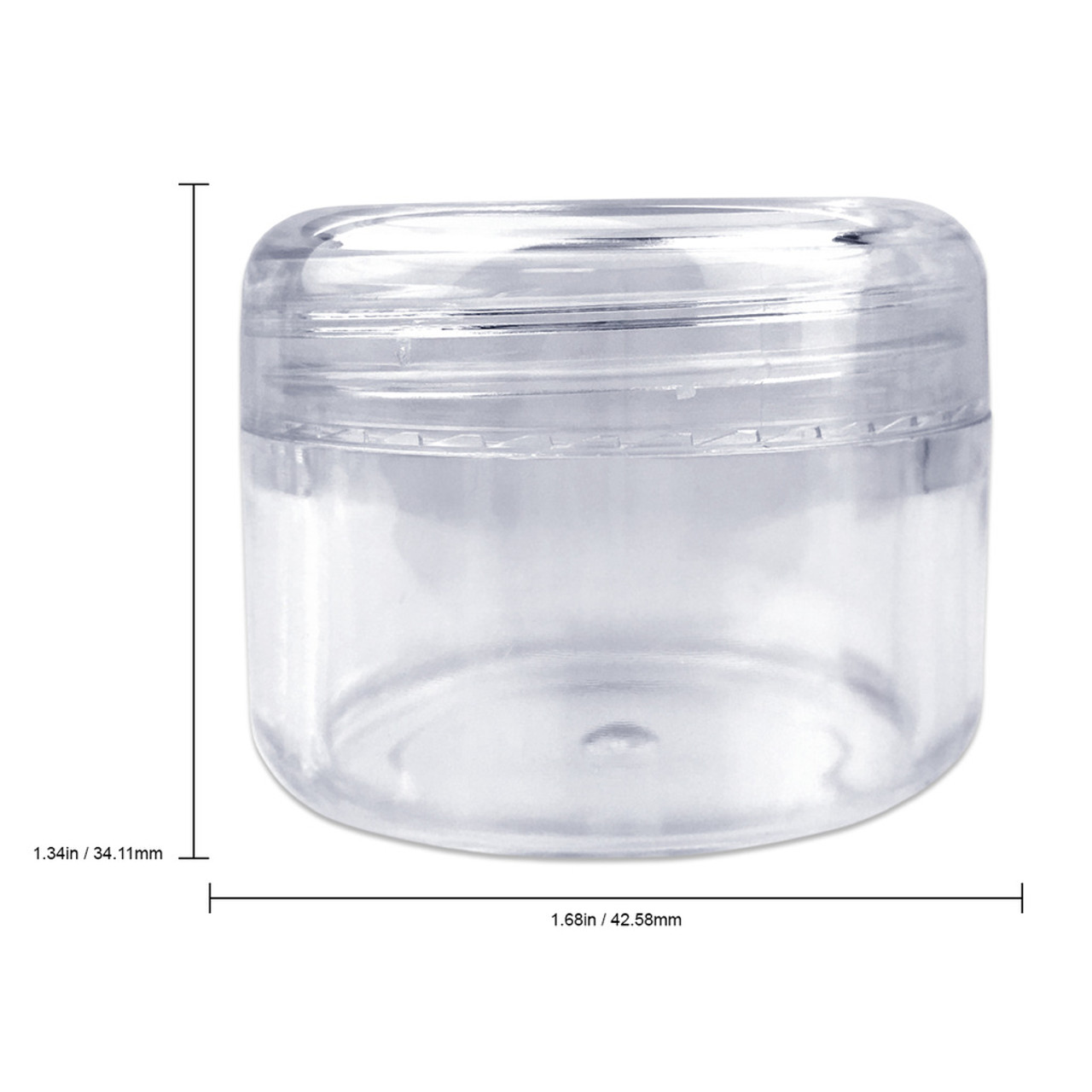 30g/30ml (1 oz) Plastic Clear Cosmetic Sample Jars (Round Top)