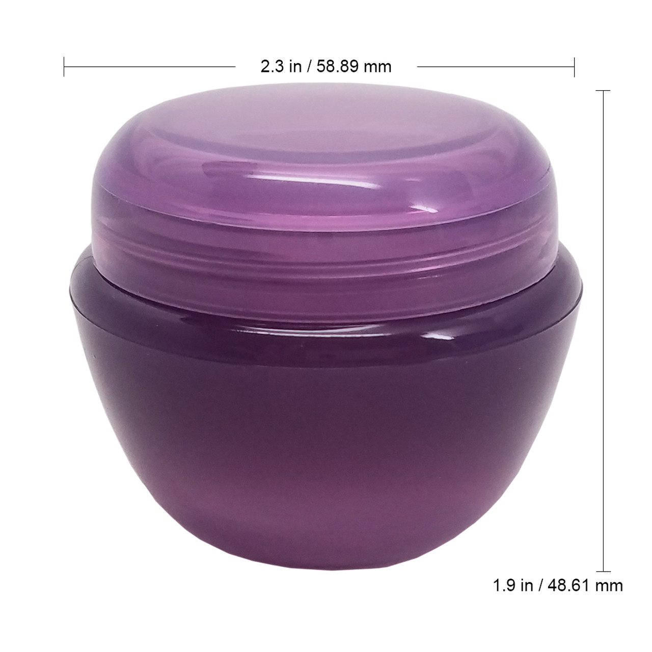 50g/50ml (1.7 oz) Plastic Cosmetic Sample Jars (Frosted)