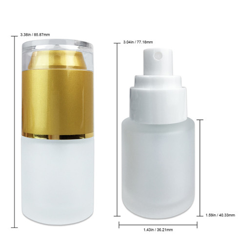20ML Empty Frosted Glass Spray Bottle with Gold Cap
