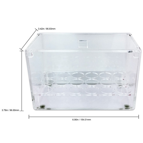 Clear Acrylic 18 Slot Nail Art Bottle Container