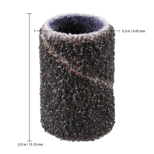 PANA 100 Pieces Black Nail Sanding Bands (Grit 80, 120, 150, 180, 240)
