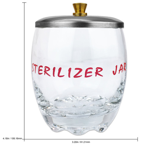 Disinfecting Sterilizer Jar with Metal Lid for Tools and Scissors