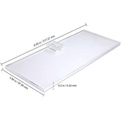 Clear Acrylic Wall Mount Business License Holder Display