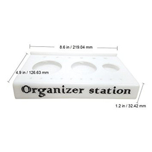 White Nail Organizer Station