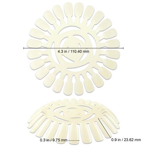 Natural Color Nail Art Tips Display Wheel
