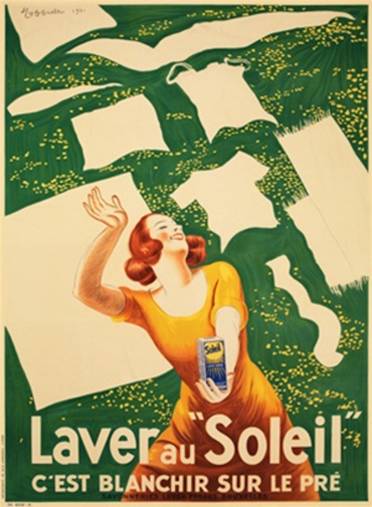 Laver Au Soleil poster by Cappiello 1901 French - Beautiful Vintage Posters Reproductions.
