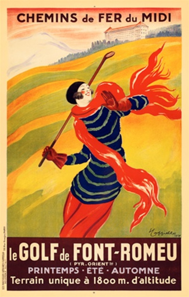 Le Golf De Font-Romeu poster by Leonetto Cappiello from 1901 France - Beautiful Vintage Posters Reproductions.