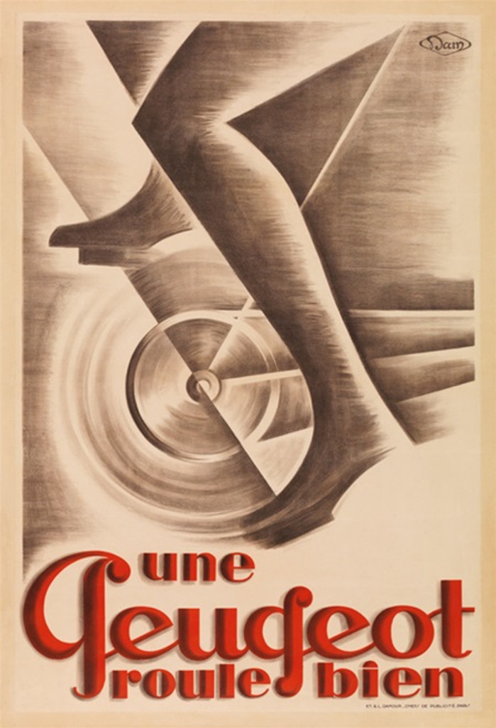Peugeot cycles bicycles poster print. - Beautiful Vintage Poster Reproductions. This vertical French transportation poster features a man riding a bicycle. Giclee Advertising Prints. Classic Posters