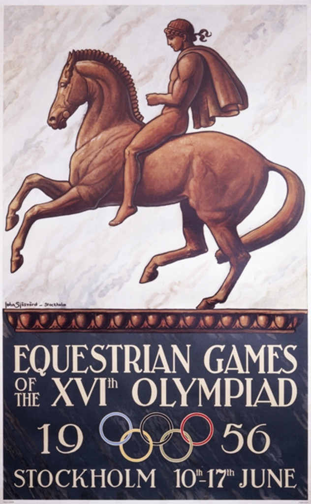 Equestrian Games Of The XVI Olympiad 1956 Vintage Poster Reproduction. Giclee advertising prints. Classic Posters