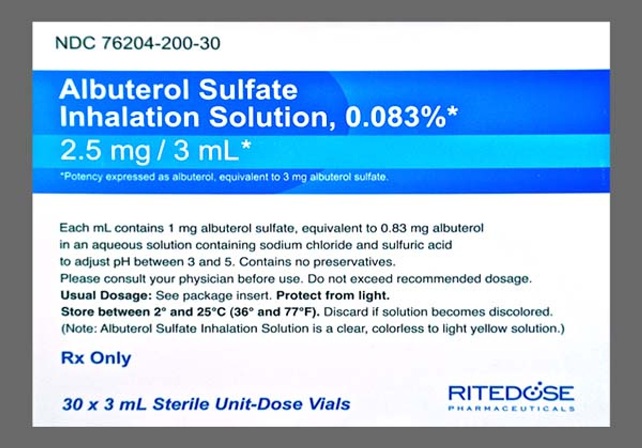 Albuterol Sulfate 0 83mg 30 X 3ml The Torrance Company