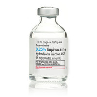 BUPIVACAINE, 0.25% (Preservative Free) (25/Bx) * 30 mL