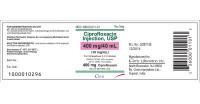 CIPROFLOXACIN, 10 mg/mL (SDV) * 40 mL