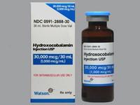 HYDROXOCOBALAMIN (Vitamin B-12), 1000 mcg/mL * 30 mL