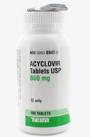 ACYCLOVIR, 800 mg. Tablets (100)