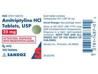 AMITRIPTYLINE, 25 mg. Tablets (100)