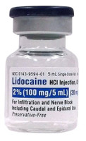 LIDOCAINE, 2% (Preservative Free) (10/BX) * 5 mL
