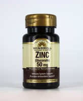 Zinc Gluconate 50 mg.  100 Tablets