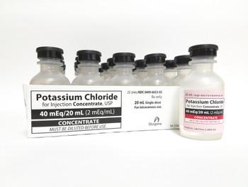 POTASSIUM CHLORIDE, 2 mEq/mL * 20 mL (EACH)