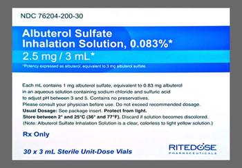 ALBUTEROL SULFATE, 0.83mg (30 x 3mL)