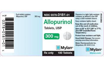 ALLOPURINOL, 300 mg.  Tablets   (100)