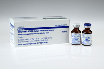 INFUVITE - ADULT Multivitamins for Injection (5 Doses) 2A9018