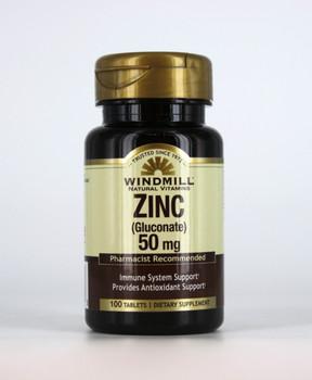 Zinc Gluconate 50 mg.  100 Tablets