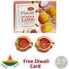 Motichoor Ladoo with a Pair of Diya