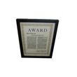 Boston Legal Prop - Edmund Graves Award Certificate Framed (Armin Shimermin tie in)