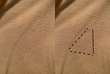 Comparison to show the area indentations where the Epsilon patch was originally affixed.