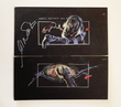 Star Trek The Motion Picture Hand Drawn Storyboard Frame 51 and 52 - Autographed by William Shatner
