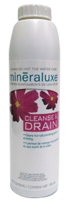 Mineraluxe Cleanse & Drain 750 ml ( hot tub plumbing cleaner )