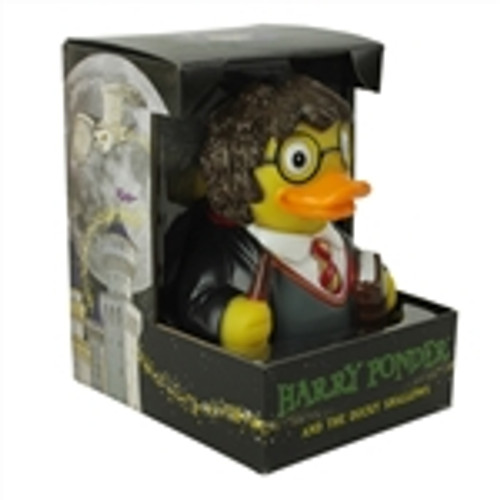 The Duck For the Harry Potter Fans  . This  Duck always floats upright , water tight and will be a conversation piece in the hot tub or pool   . Unique in design it comes in its own box for the collector who wishes to showcase this in their collections. 1-855-248-0777