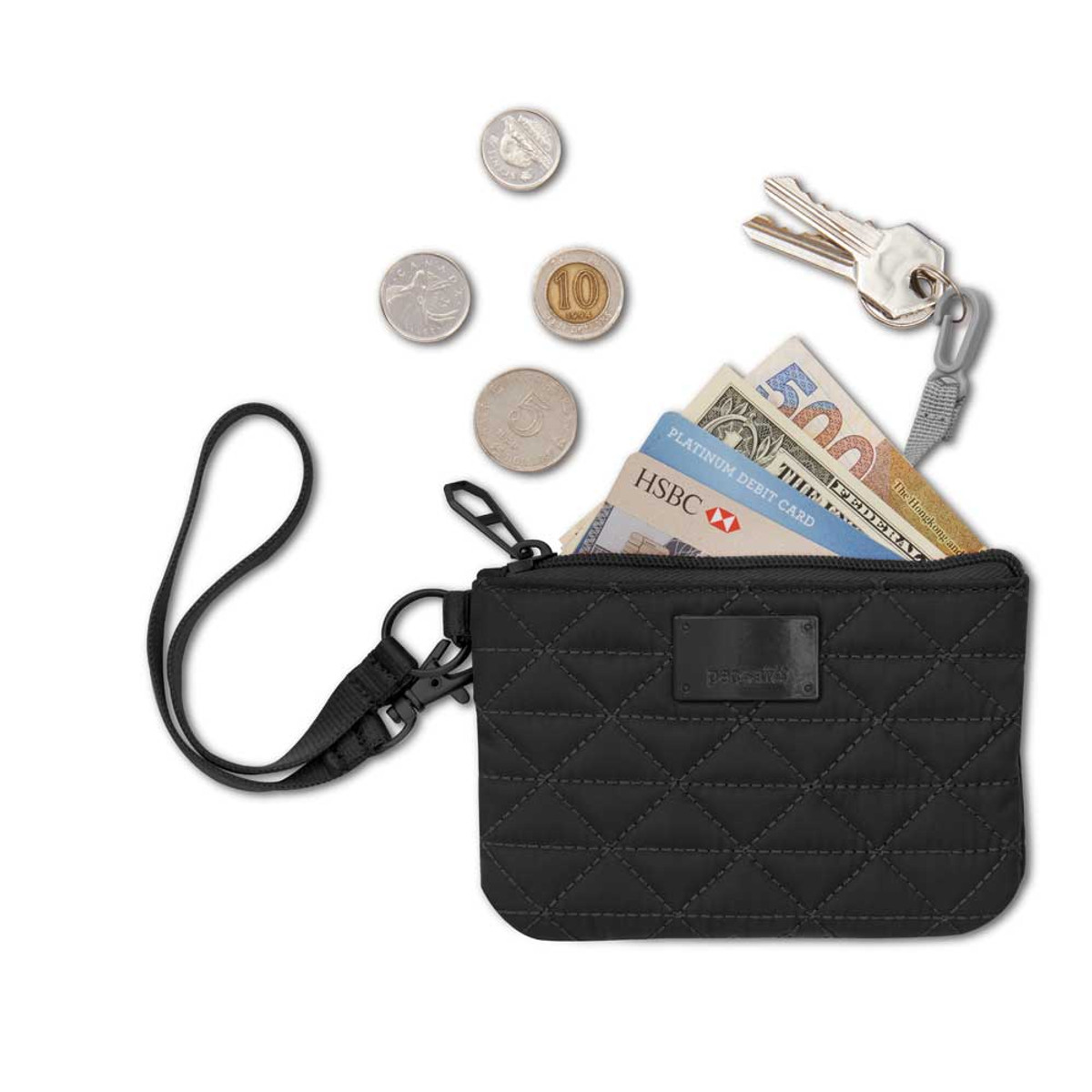 Pacsafe RFID-safe W50 RFID-blocking coin and card purse