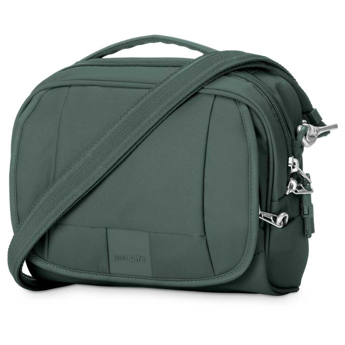 Pacsafe Metrosafe 140 compact shoulder bag, pine green