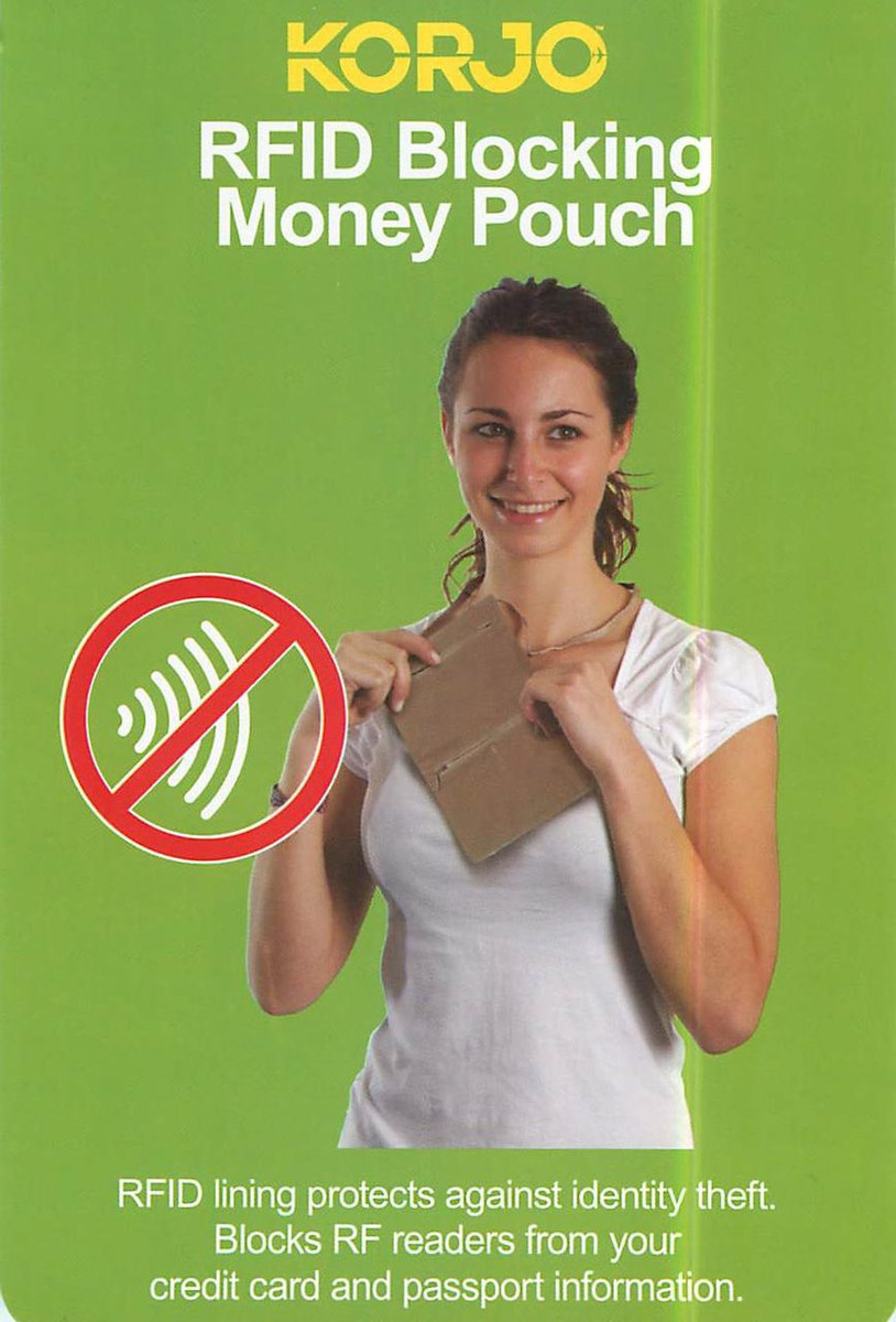 Korjo RFID blocking money pouch
