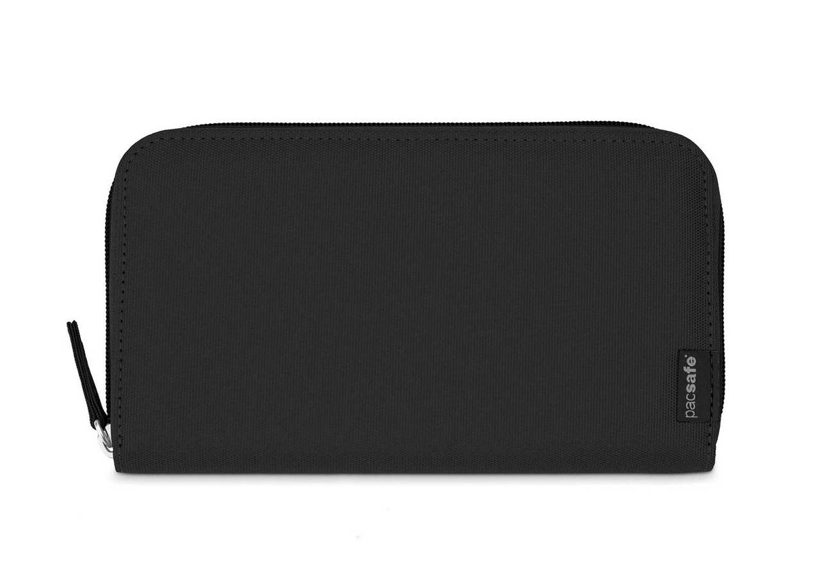 Pacsafe RFIDSafe LX250 zippered travel wallet, black