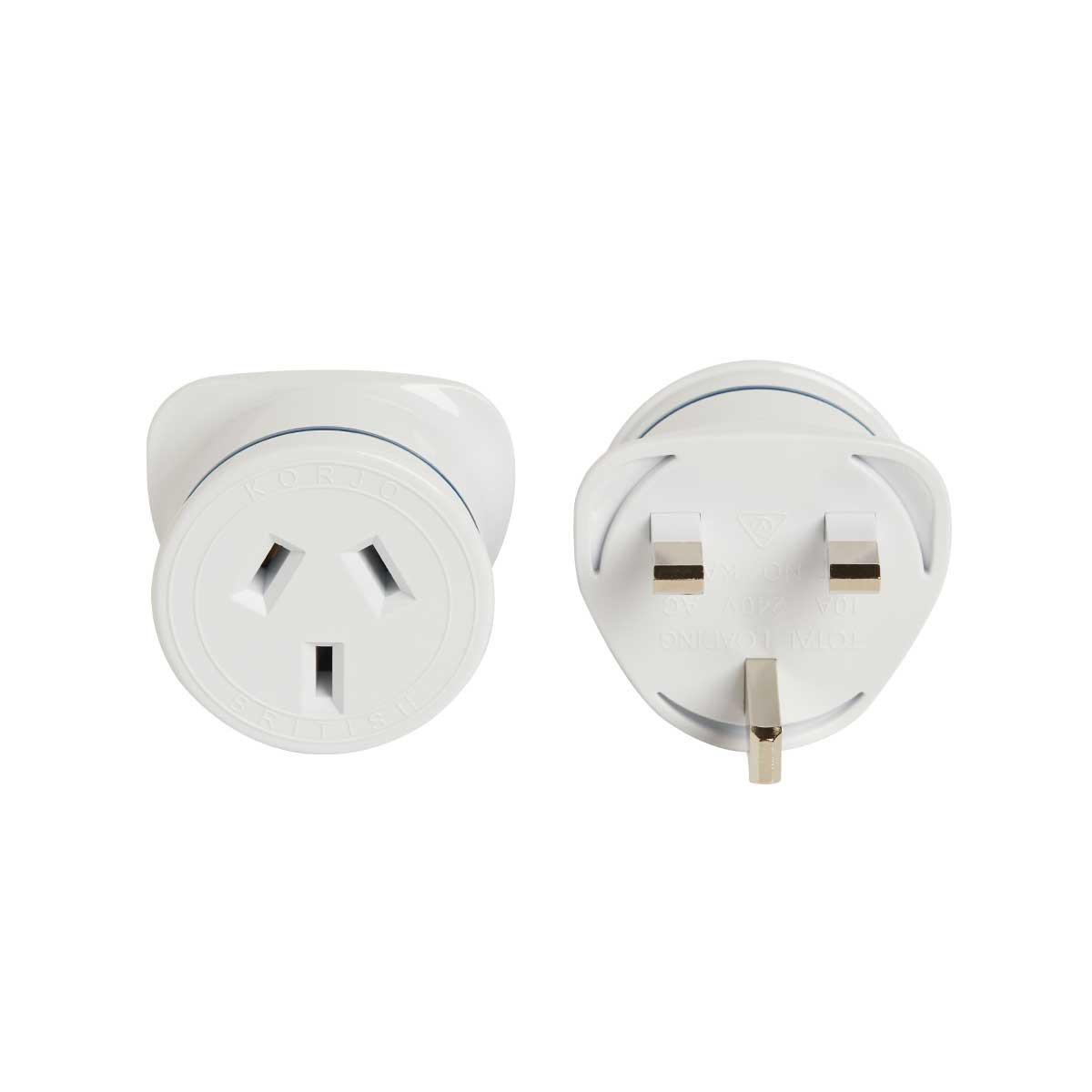 Korjo Electrical Adaptor Australia and NZ -> Great Britain