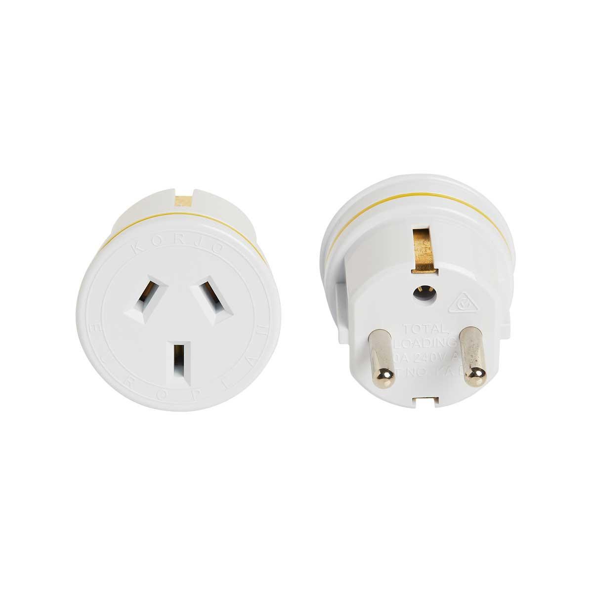 Korjo Electrical Adaptor: Australia and NZ -> Europe