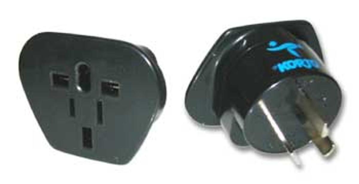 Korjo Electrical Adaptor: Europe, USA and UK -> Australia & NZ