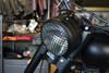 "7"" INCH Matt Black Mesh Grill Metal Headlight Cover Scrambler Project Motorbikes"
