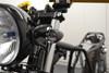 Black LED Custom Integrated Motorbike Indicators & Driving Lights DRL CNC Billet Aluminium