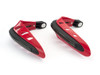 RED Motorbike Quad Bike Handguards Protectors LED Daytime Running Lights DRL