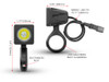 10W LED Motorbike Spotlight Kit with Wiring Harness, Switch, Fork Clamps (size options available)