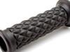 "Black Diamond Motorbike Hand Grips 22mm (7/8"") for Scrambler Brat Bike Cafe Racer"